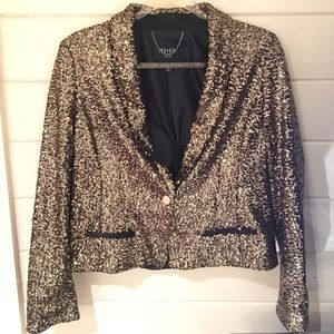 NWOT INSIGHT Gold Sequined Blazer SFH